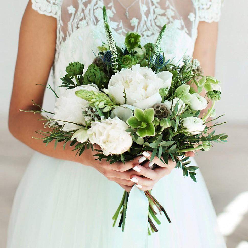 Стильный букет невесты киев