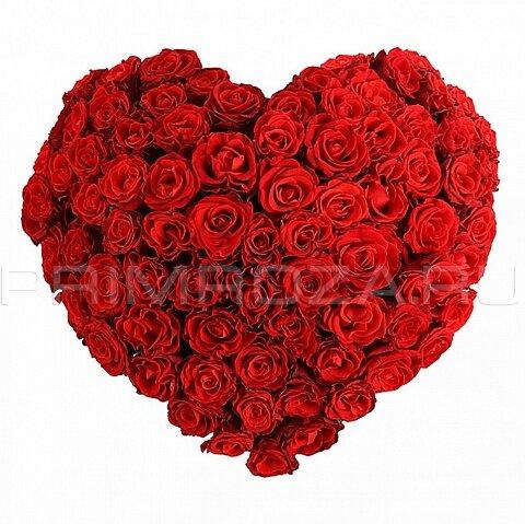 Букет роз с сердцем шарики — 5